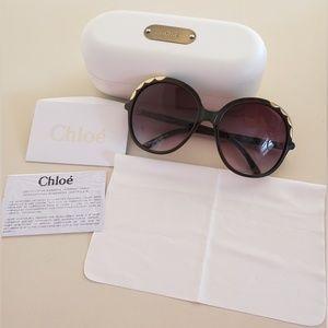 Chloe Sunglasses 2222 210 Brown Brown Gradient
